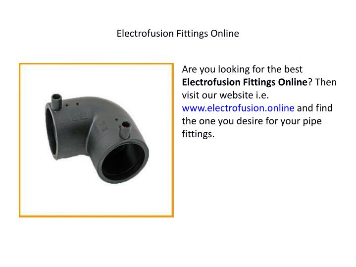 Electrofusion Fittings Online