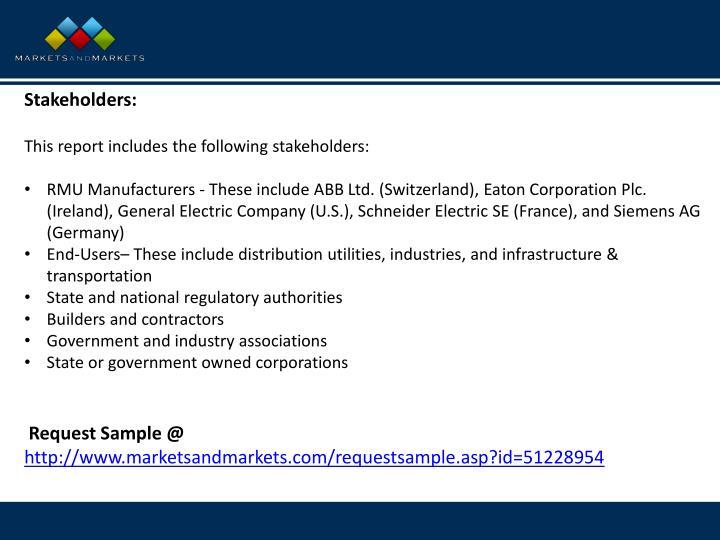Stakeholders: