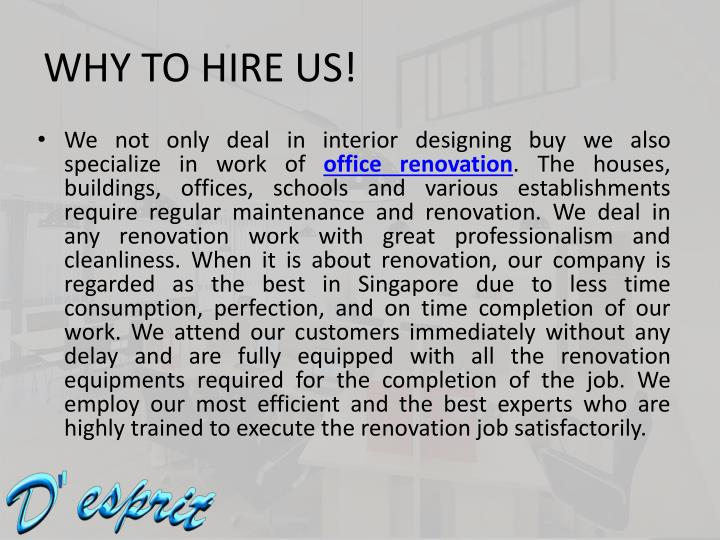 WHY TO HIRE US!