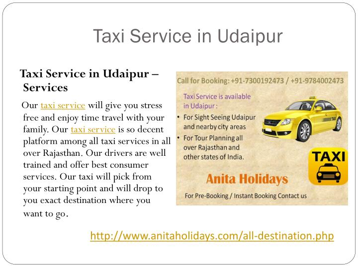 Taxi Service in Udaipur