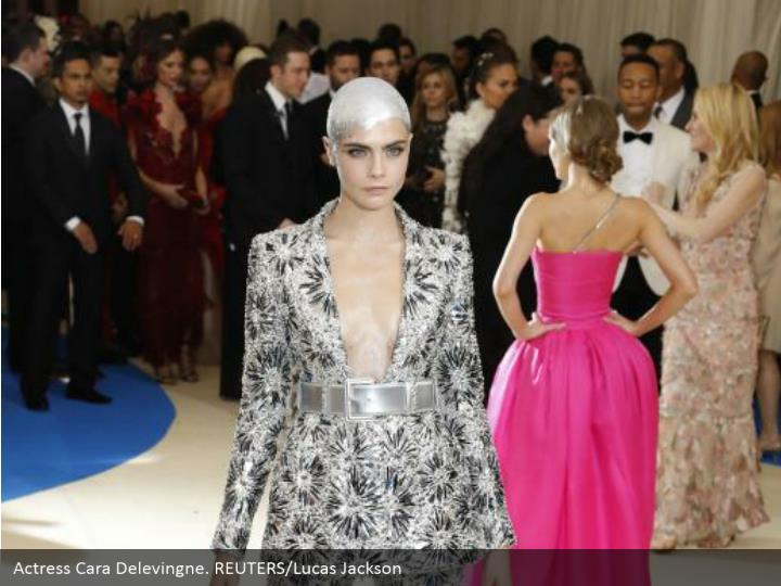 Actress Cara Delevingne. REUTERS/Lucas Jackson