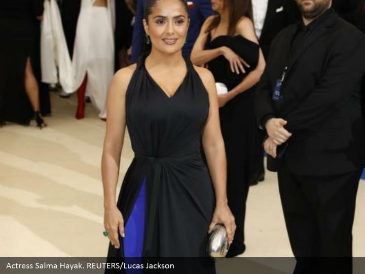 Actress Salma Hayak. REUTERS/Lucas Jackson