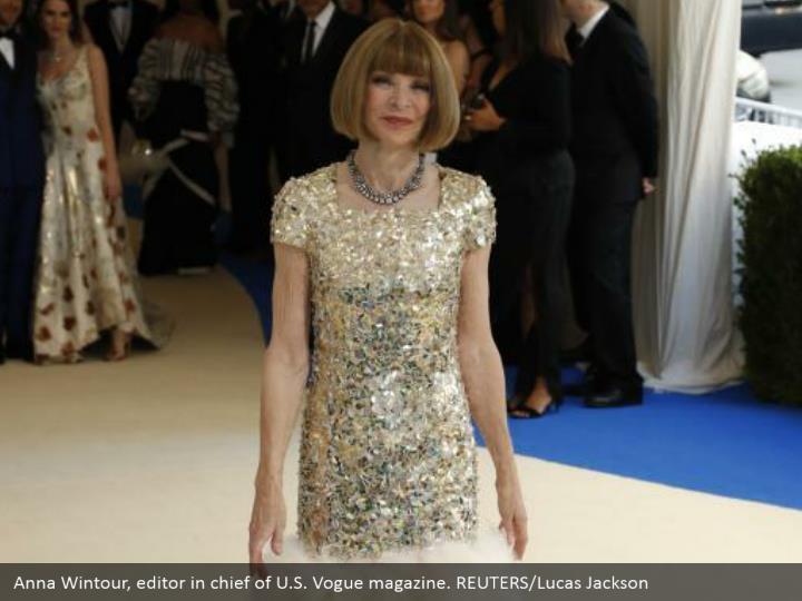 Anna Wintour, editor in chief of U.S. Vogue magazine. REUTERS/Lucas Jackson