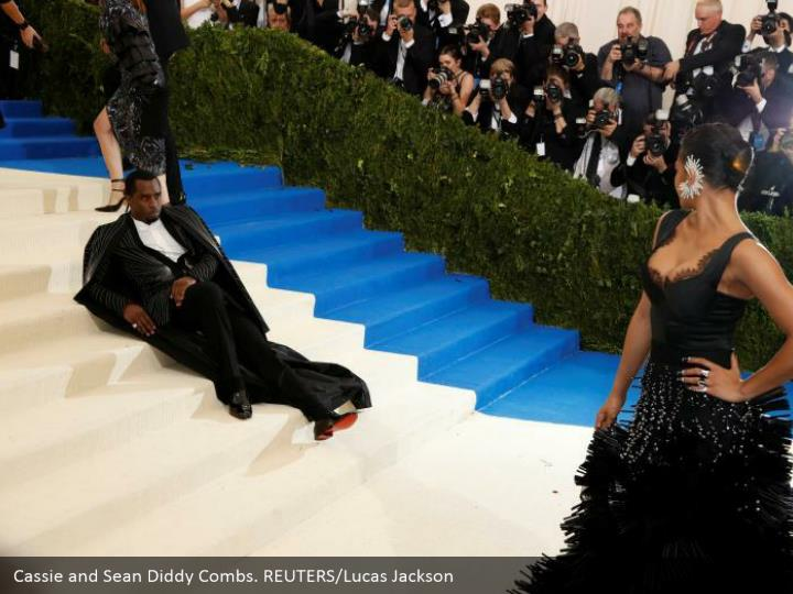 Cassie and Sean Diddy Combs. REUTERS/Lucas Jackson