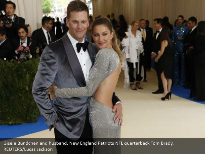 Gisele Bundchen and husband, New England Patriots NFL quarterback Tom Brady. REUTERS/Lucas Jackson