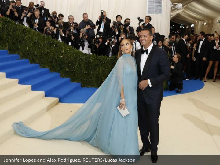 Jennifer Lopez and Alex Rodriguez. REUTERS/Lucas Jackson