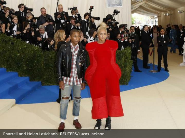 Pharrell and Helen Lasichanh. REUTERS/Lucas Jackson