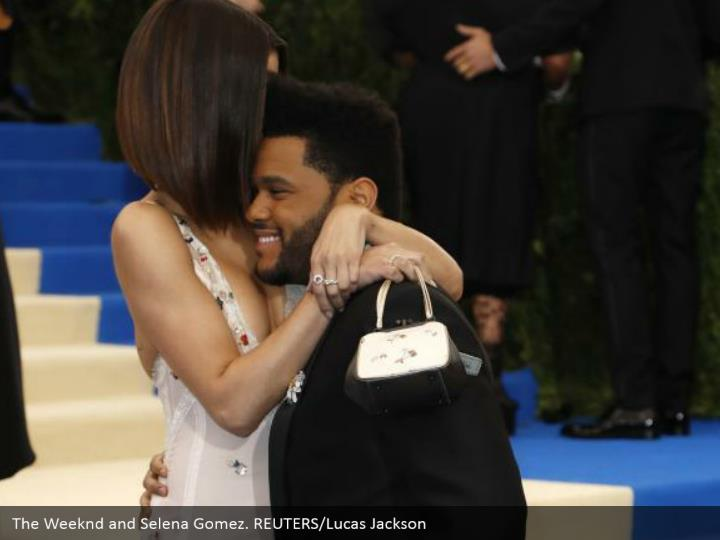The Weeknd and Selena Gomez. REUTERS/Lucas Jackson
