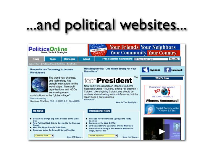 ...and political websites...
