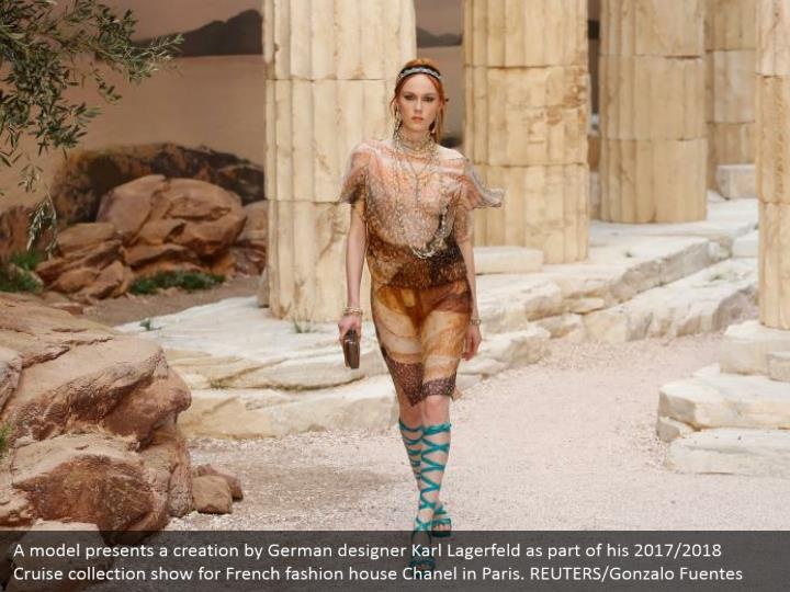 A model presents a creation by german designer1