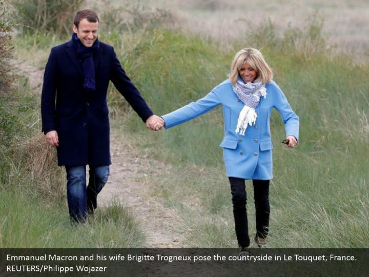 Emmanuel macron and his wife brigitte trogneux1