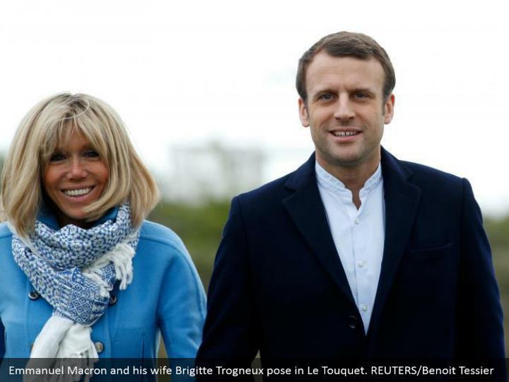 Emmanuel Macron and his wife Brigitte Trogneux pose in Le Touquet. REUTERS/Benoit Tessier