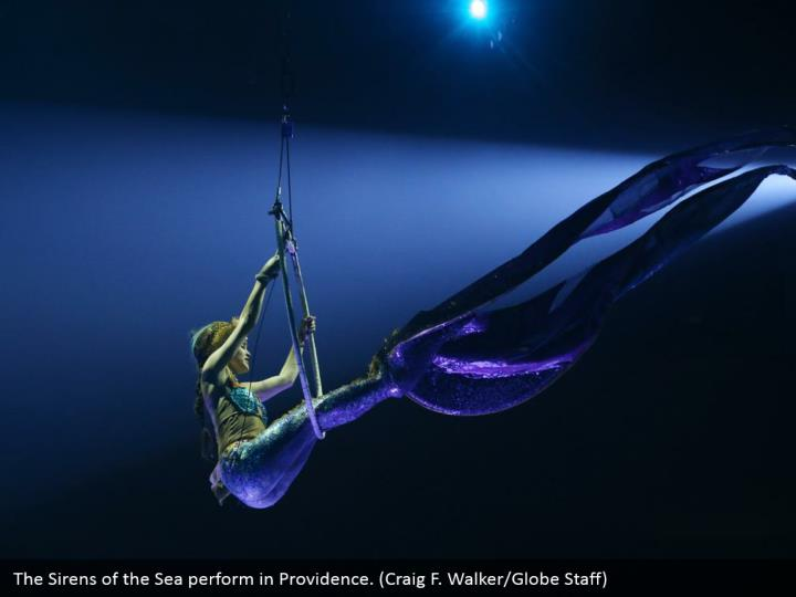 The Sirens of the Sea perform in Providence. (Craig F. Walker/Globe Staff)