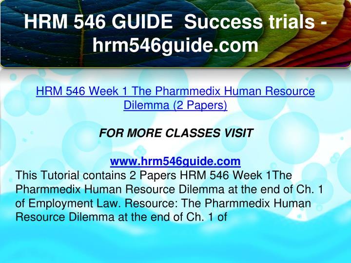 HRM 420 Week 1 DQ 1