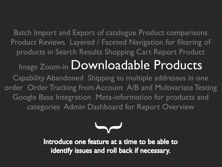 Batch Import and Export of catalogue Product comparisons