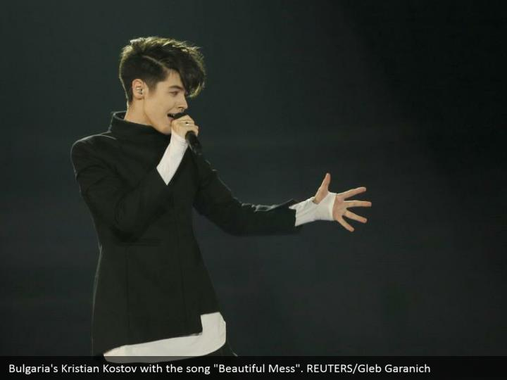 "Bulgaria's Kristian Kostov with the song ""Beautiful Mess"". REUTERS/Gleb Garanich"