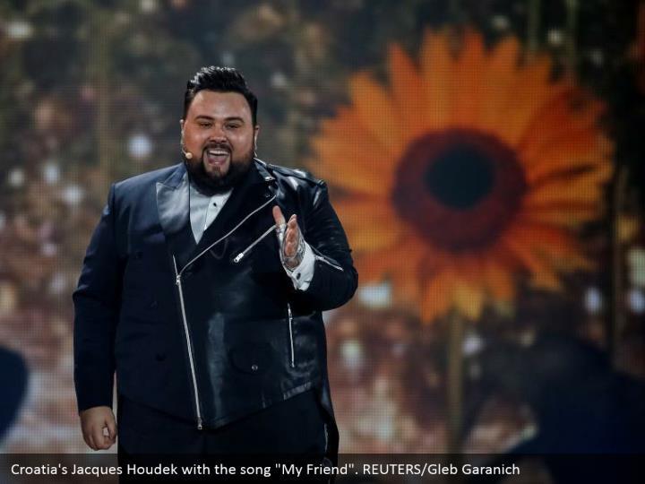 "Croatia's Jacques Houdek with the song ""My Friend"". REUTERS/Gleb Garanich"