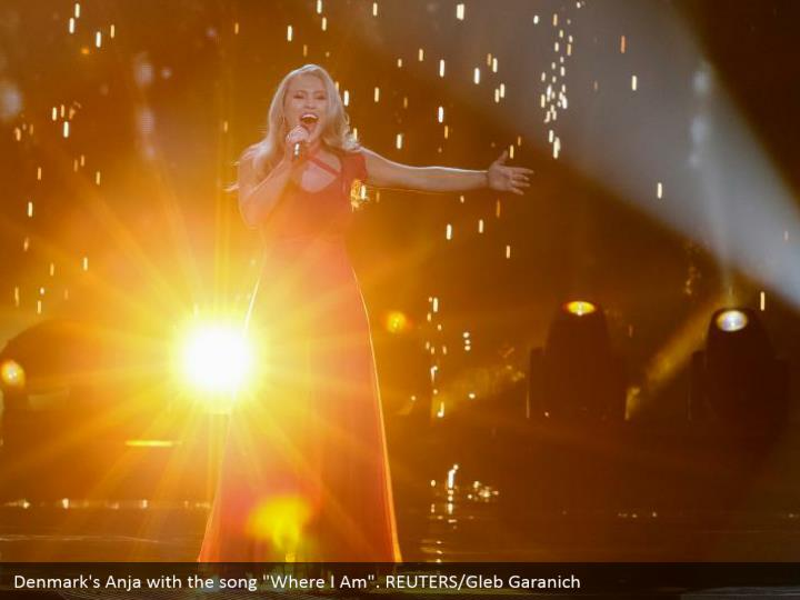 "Denmark's Anja with the song ""Where I Am"". REUTERS/Gleb Garanich"