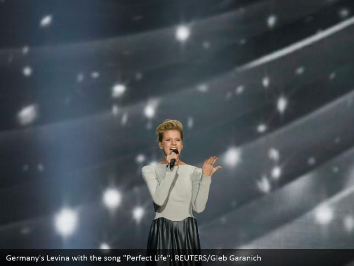 "Germany's Levina with the song ""Perfect Life"". REUTERS/Gleb Garanich"