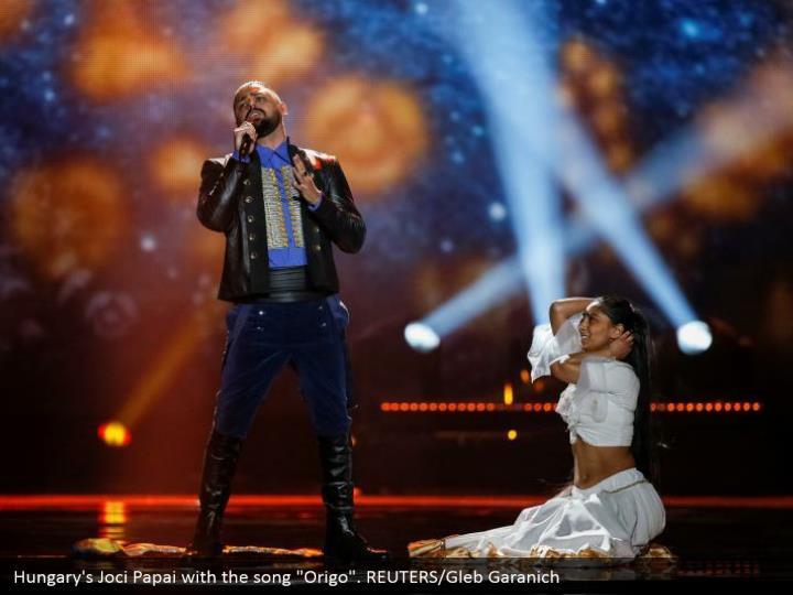 "Hungary's Joci Papai with the song ""Origo"". REUTERS/Gleb Garanich"