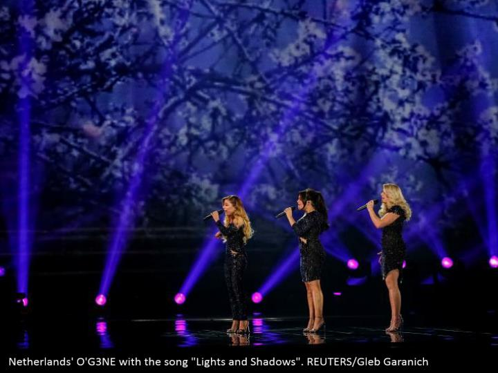 "Netherlands' O'G3NE with the song ""Lights and Shadows"". REUTERS/Gleb Garanich"