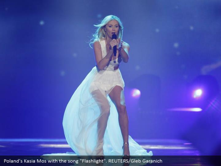 "Poland's Kasia Mos with the song ""Flashlight"". REUTERS/Gleb Garanich"