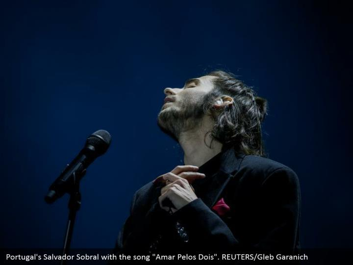 "Portugal's Salvador Sobral with the song ""Amar Pelos Dois"". REUTERS/Gleb Garanich"