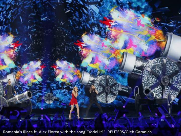 """Romania's Ilinca ft. Alex Florea with the song """"Yodel It!"""". REUTERS/Gleb Garanich"""