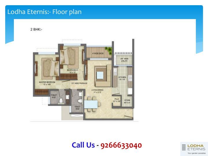 Lodha Eternis:- Floor plan