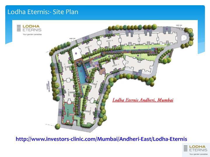 Lodha Eternis:- Site Plan