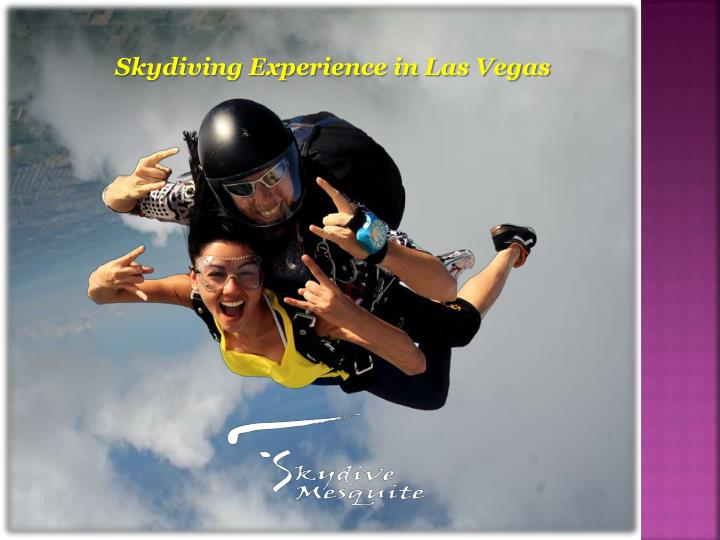 Skydiving experience in las vegas