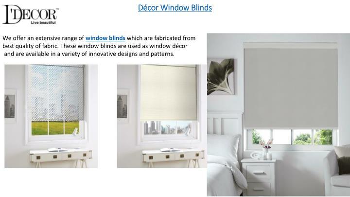 Décor Window Blinds