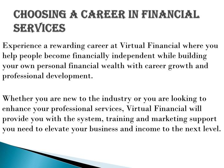 how to make a career in finance