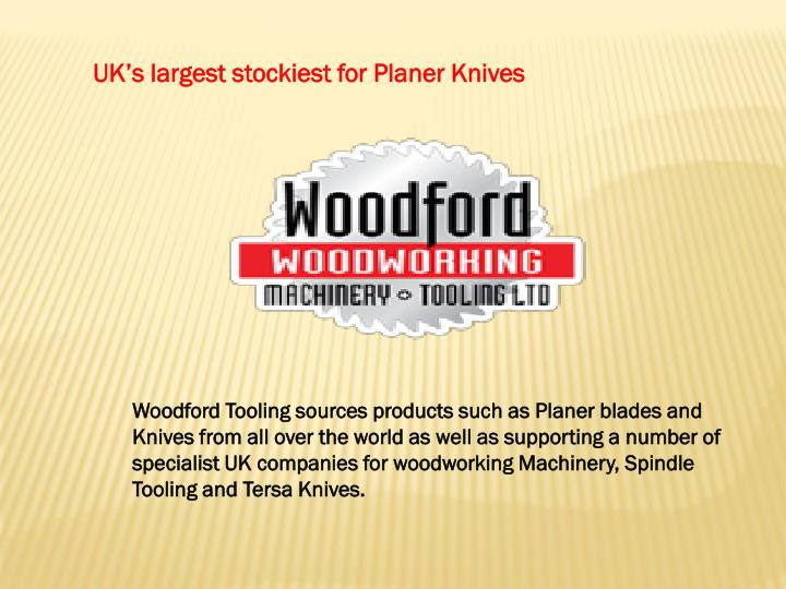 UK's largest stockiest for Planer Knives