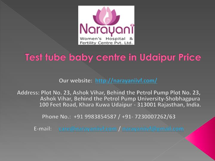 Test tube baby centre in udaipur price