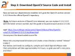 step 3 download opencv source code and install