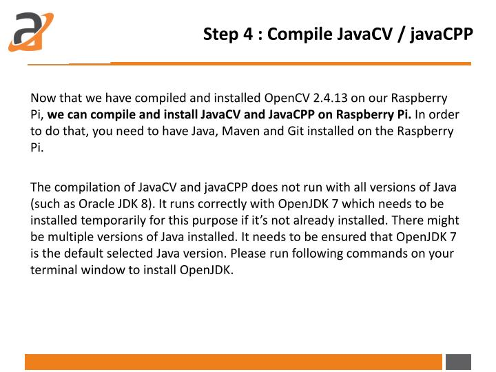 Step 4 : Compile