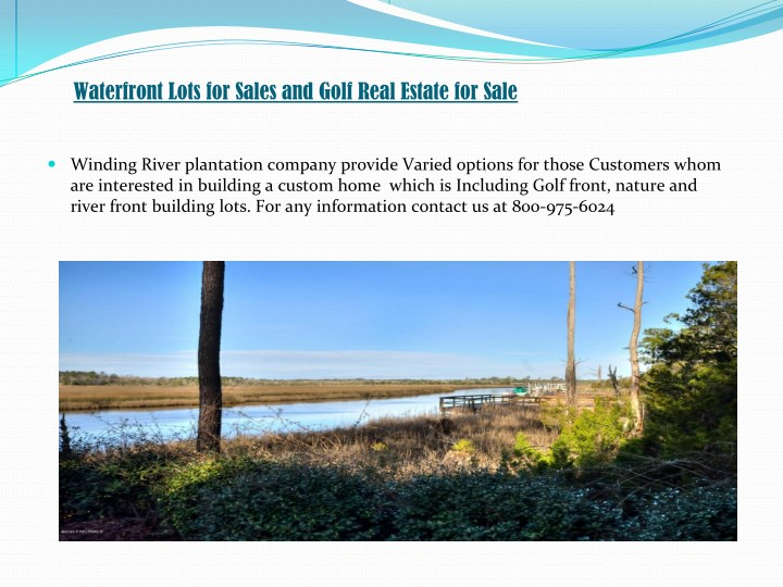 Waterfront Lots for Sales and Golf Real Estate for Sale