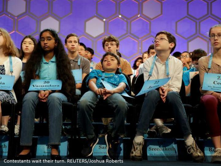 Contestants wait their turn. REUTERS/Joshua Roberts