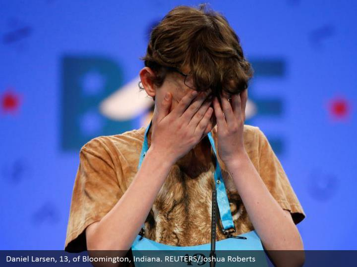 Daniel Larsen, 13, of Bloomington, Indiana. REUTERS/Joshua Roberts