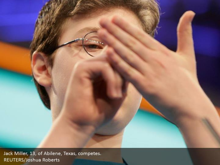 Jack Miller, 13, of Abilene, Texas, competes.  REUTERS/Joshua Roberts