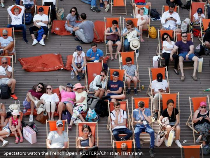 Spectators watch the French Open. REUTERS/Christian Hartmann
