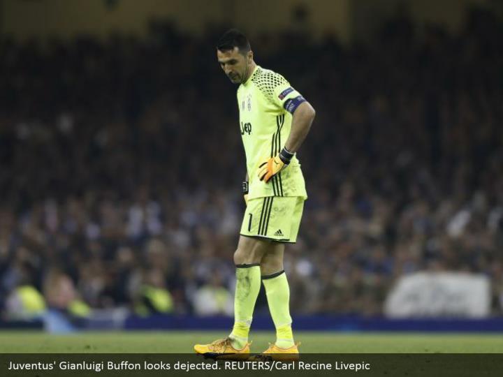 Juventus' Gianluigi Buffon looks dejected. REUTERS/Carl Recine Livepic