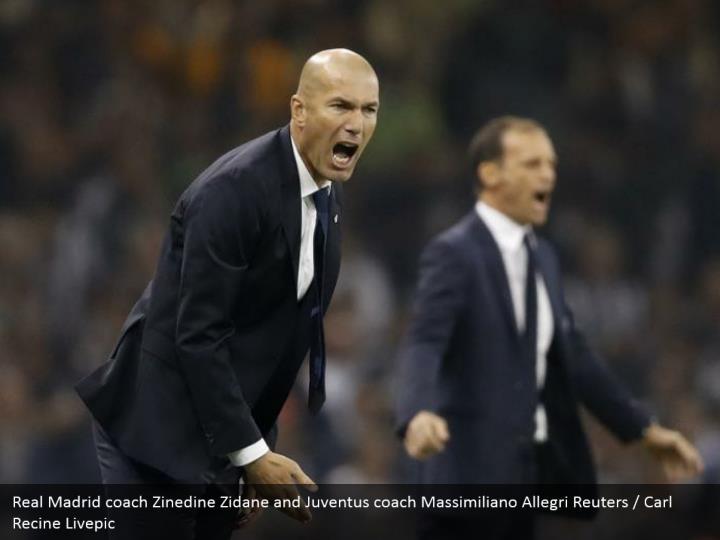 Real Madrid coach Zinedine Zidane and Juventus coach Massimiliano Allegri Reuters / Carl Recine Livepic