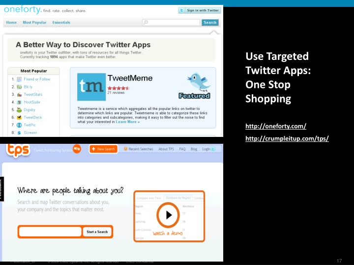 Use Targeted Twitter Apps: One Stop Shopping