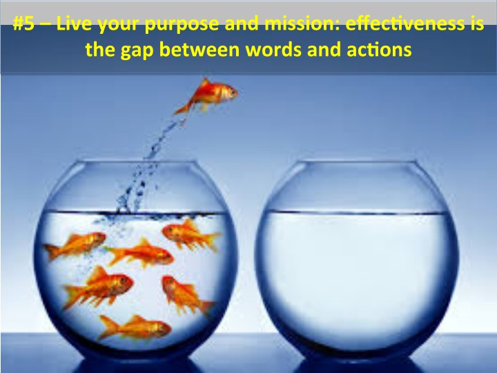 #5  –  Live  your  purpose  and  mission:  effec4veness  is