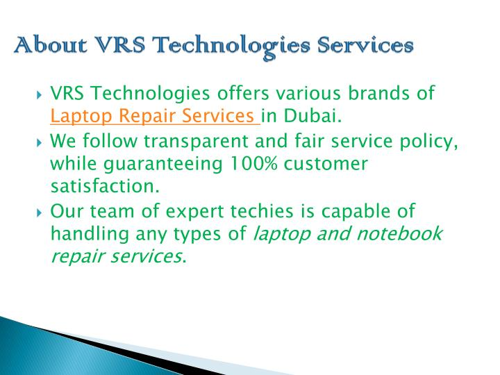 About vrs technologies services