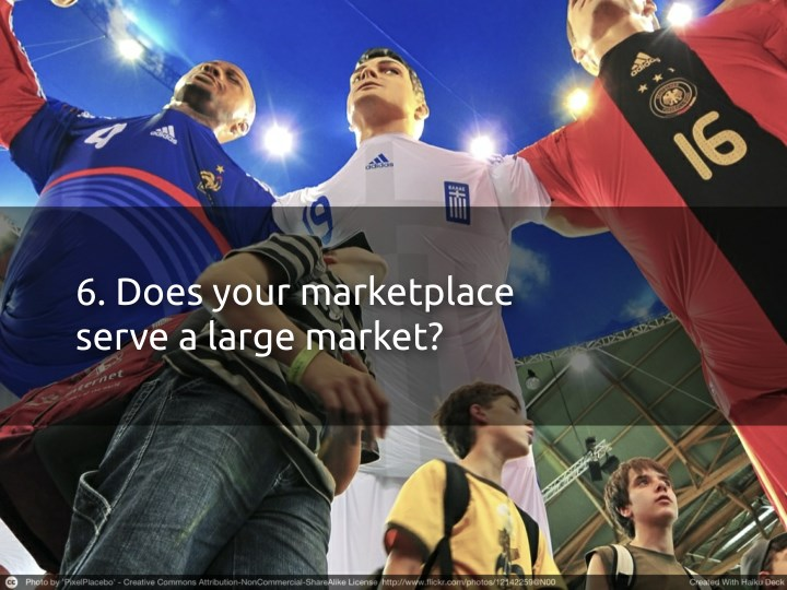 6. Does your marketplace
