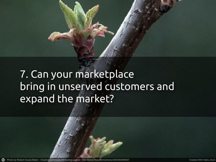 7. Can your marketplace