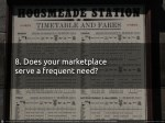8 does your marketplace serve a frequent need